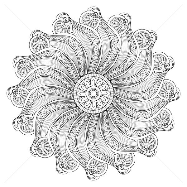 Vetor belo monocromático contorno mandala Foto stock © lissantee