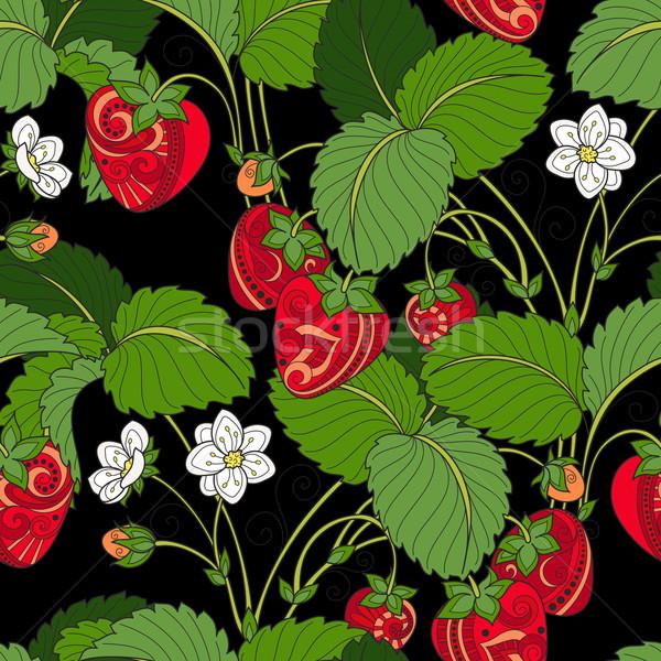 Сток-фото: вектора · бесшовный · фрукты · шаблон · рисованной