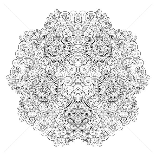 Vektor gyönyörű monokróm körvonal csillag dizájn elem Stock fotó © lissantee