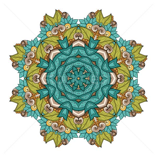ベクトル 美しい 曼陀羅 民族 ストックフォト © lissantee