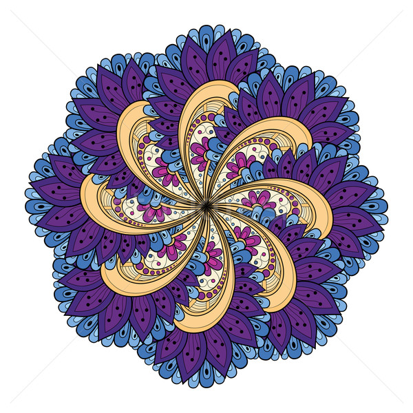 ベクトル eps 美しい 曼陀羅 ストックフォト © lissantee