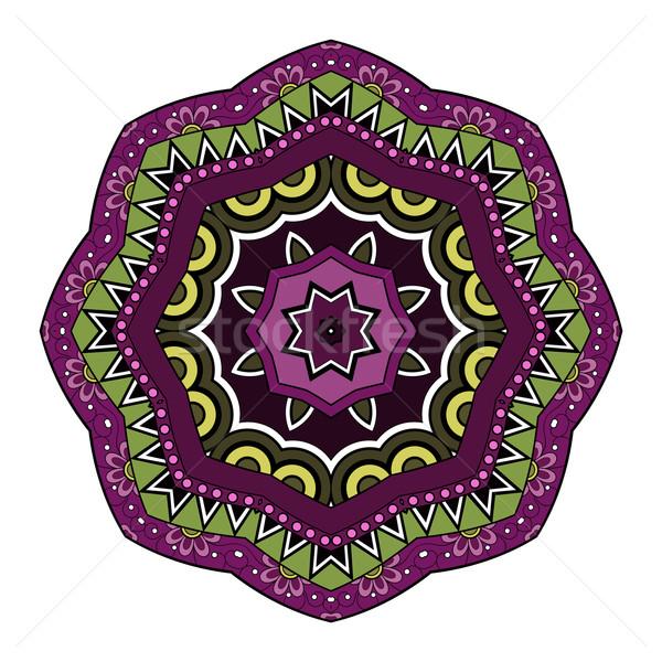 Vecteur belle mandala ethniques Photo stock © lissantee