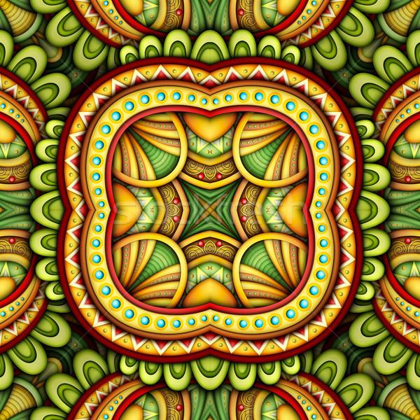 シームレス タイル パターン 幻想的な 万華鏡 ストックフォト © lissantee