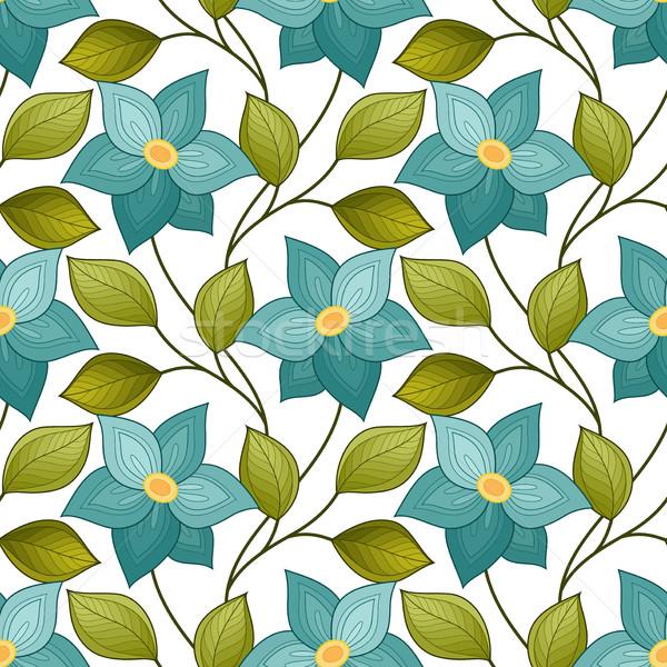вектора бесшовный цветочный шаблон рисованной текстуры Сток-фото © lissantee
