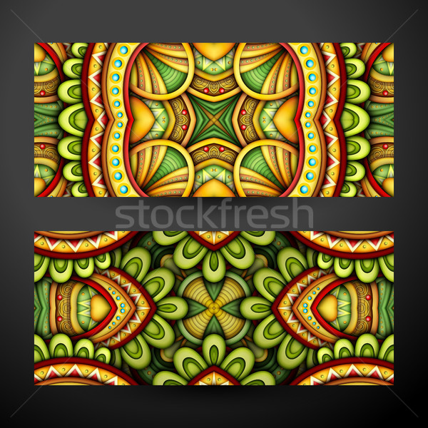 Colored Set of Banners, Web Design Elements Stock photo © lissantee