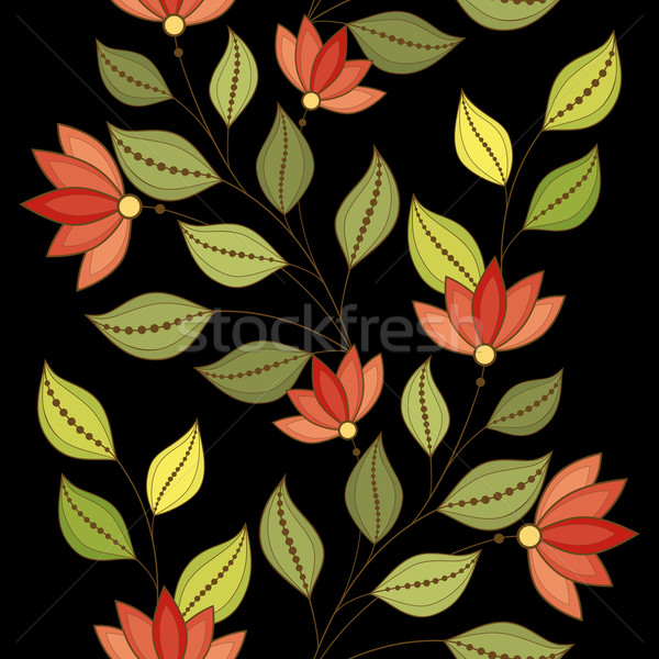 Stock photo: Vector Seamless Floral Pattern