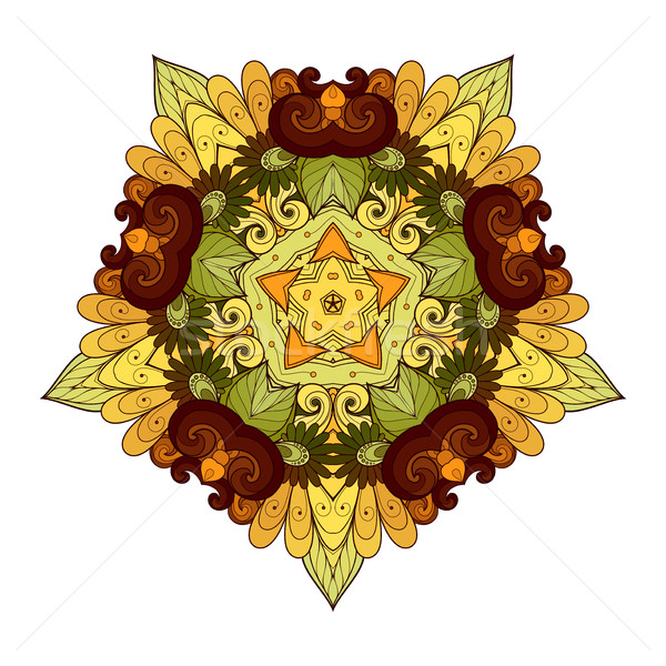 Vector Frumos Colorat Stea Ilustratie Vectoriala