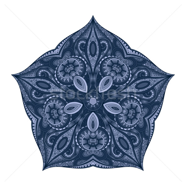Vector Beautiful Deco Colored Contour Star, Patterned Design Ele Stock photo © lissantee
