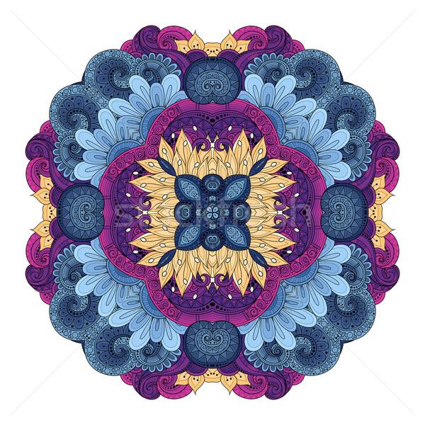 Vecteur belle contour carré Photo stock © lissantee