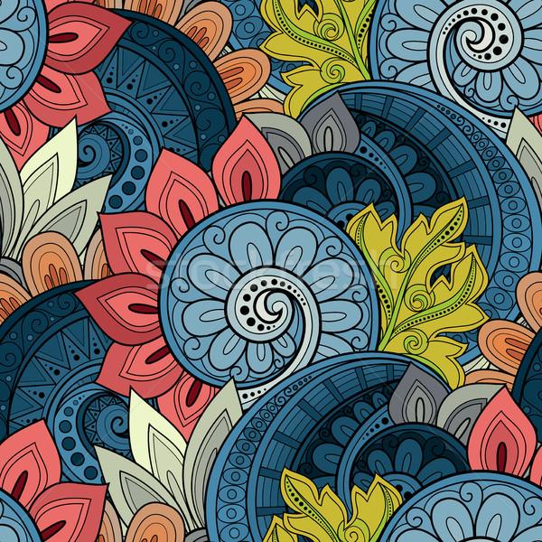Wektora bezszwowy kwiatowy wzór tekstury Zdjęcia stock © lissantee