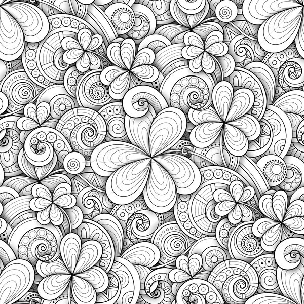 Monochrome Doodle St Patrick's Day Seamless Pattern Stock photo © lissantee