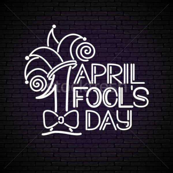 Stock photo: Greeting Card Template for April Fool's Day, Doodle Style