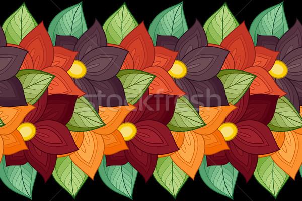 Vetor sem costura floral padrão textura Foto stock © lissantee