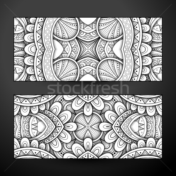 Set of Monochrome Banners, Web Design Element Stock photo © lissantee