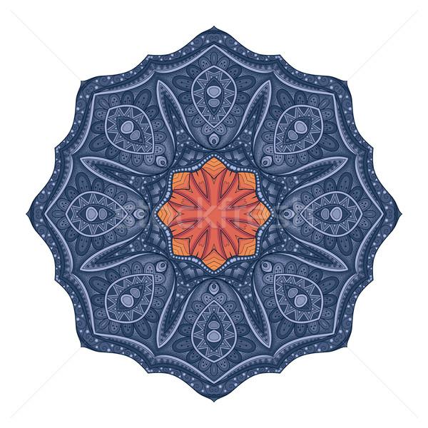 Wektora piękna kolorowy kontur mandala Zdjęcia stock © lissantee