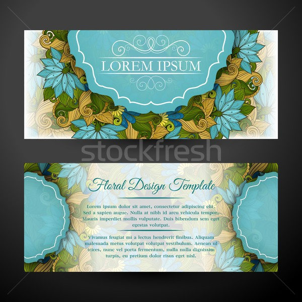 Set of Horizontal Banners, Web Design Element Stock photo © lissantee