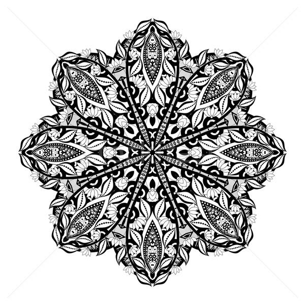 Stock photo: Vector Beautiful Deco Black Mandala