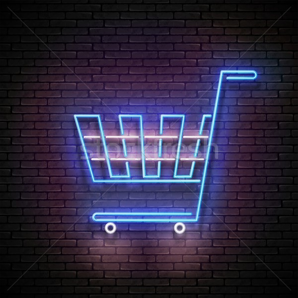 Vintage brillo vacío comestibles supermercado compras Foto stock © lissantee