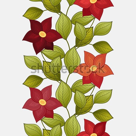 Stock photo: Vector Beautiful Colored Contour Flower