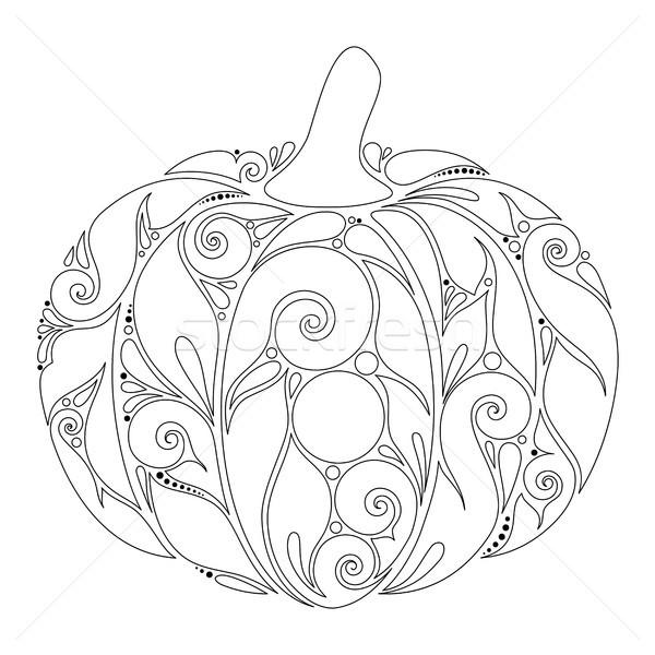 Monochromatyczny dekoracyjny dynia spadek roślin ozdoba Zdjęcia stock © lissantee