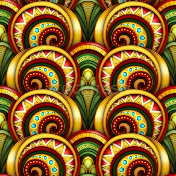 Stockfoto: Gekleurd · etnische · motieven · oneindig · textuur