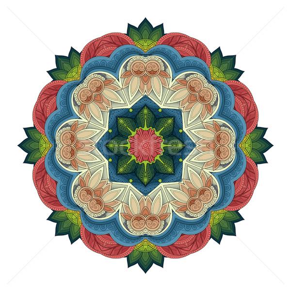 Vecteur belle contour mandala Photo stock © lissantee