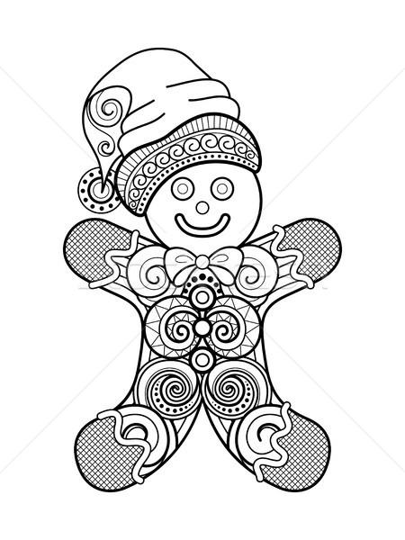 Сток-фото: монохромный · Рождества · украшение · с · Новым · годом · символический