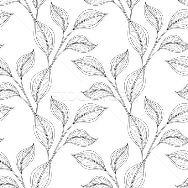 Vector monochroom naadloos patroon Stockfoto © lissantee