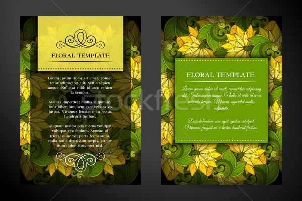 Colored Double-sided Greeting Card Stock photo © lissantee