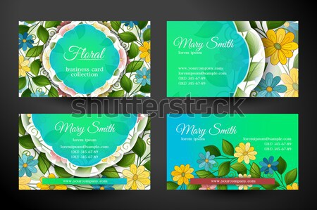 Set of Horizontal Business Cards, Corporate Identity Elements Stock photo © lissantee