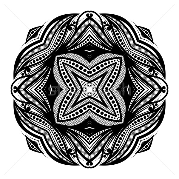 Stok fotoğraf: Vektör · güzel · siyah · kare · sanat