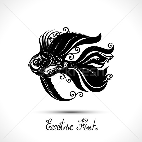 Vector Exotic Fish. Patterned Sea Logo Collection Stock photo © lissantee