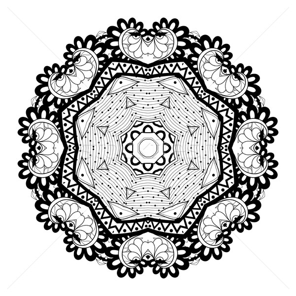 Vector monochroom ornament krans Stockfoto © lissantee