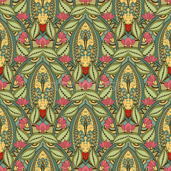 Vetor sem costura abstrato tribal padrão Foto stock © lissantee