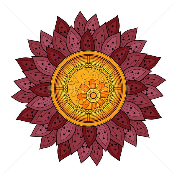 Zdjęcia stock: Wektora · piękna · kolorowy · kontur · kwiat · wektora · kwiat