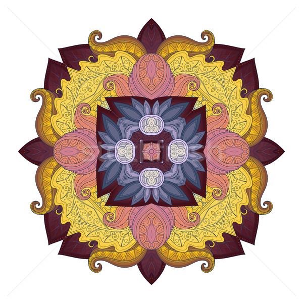 Stock fotó: Vektor · gyönyörű · színes · körvonal · tér · dizájn · elem