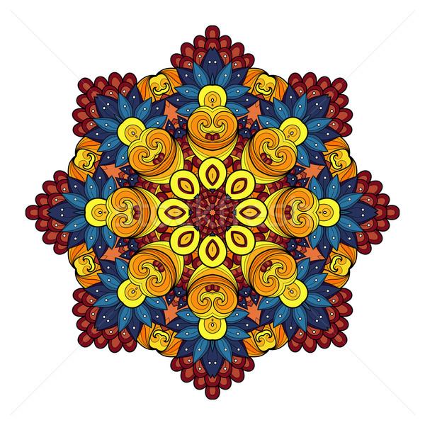 Vector Beautiful Deco Colored Mandala Stock photo © lissantee
