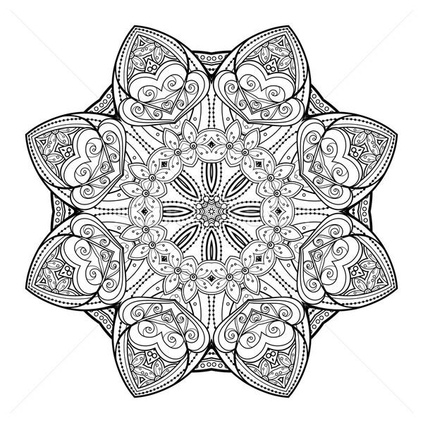 ベクトル 美しい 黒 曼陀羅 民族 ストックフォト © lissantee