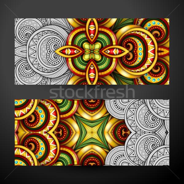 Conjunto parcialmente banners web design elemento Foto stock © lissantee