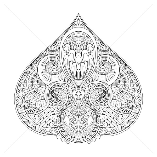 Monochrome Decorative Pike, Abstract Design Element Stock photo © lissantee
