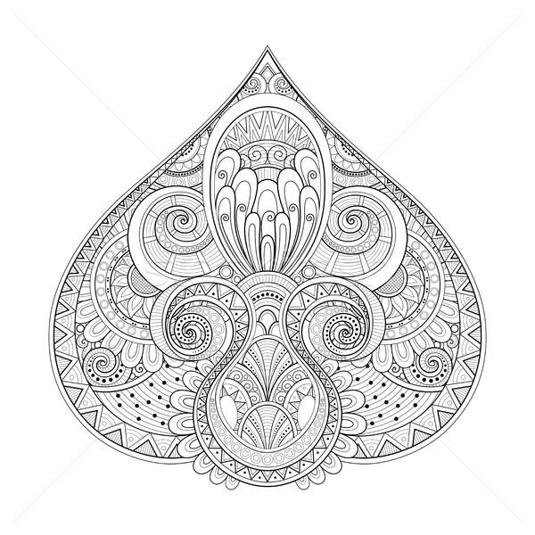 монохромный декоративный аннотация племенных симметричный Сток-фото © lissantee