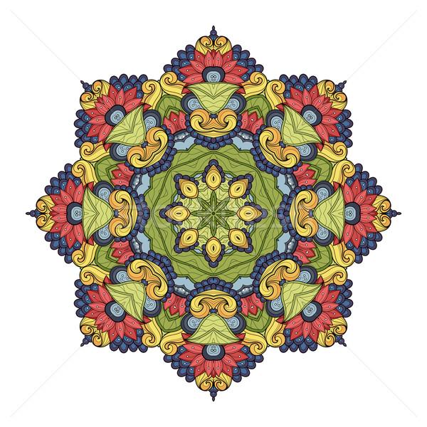 Stok fotoğraf: Vektör · güzel · renkli · mandala · etnik