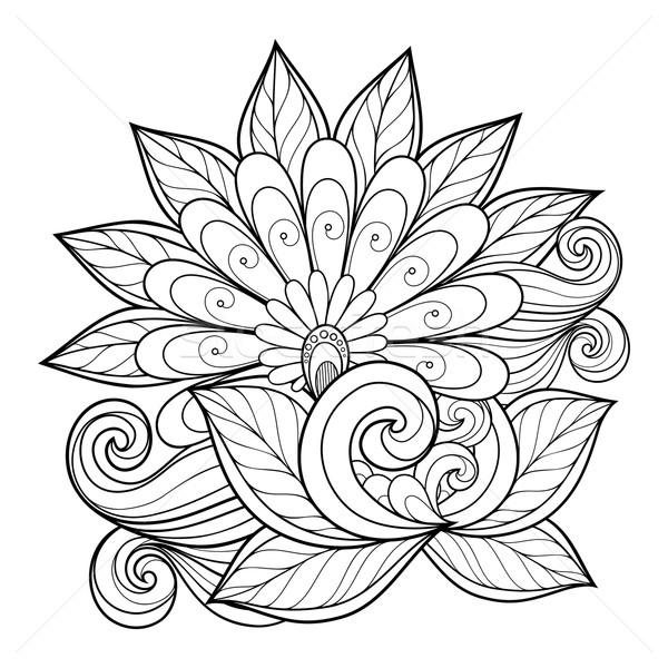 вектора красивой монохромный цветок вектор цветок Сток-фото © lissantee