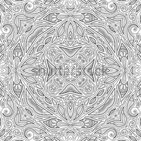 Wektora bezszwowy streszczenie czarno białe plemiennych wzór Zdjęcia stock © lissantee
