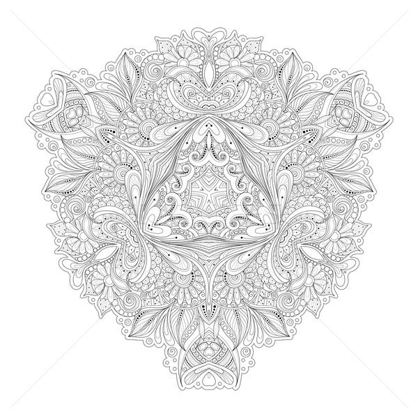 Stok fotoğraf: Vektör · güzel · siyah · üçgen · orijinal