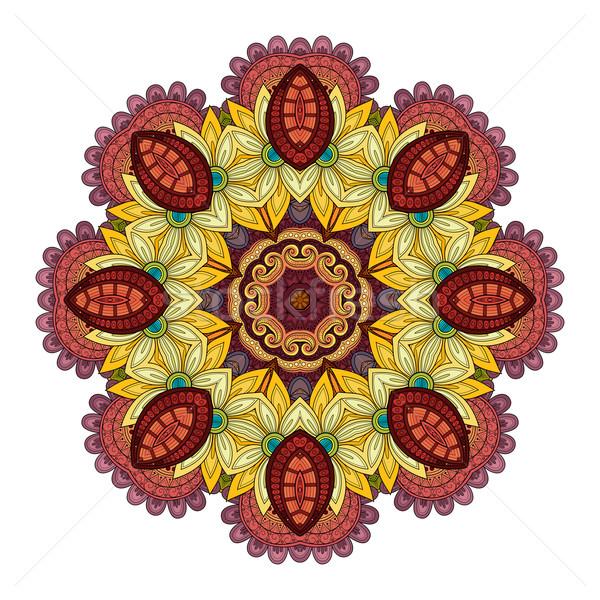 Vektor schönen Kontur Mandala Stock foto © lissantee
