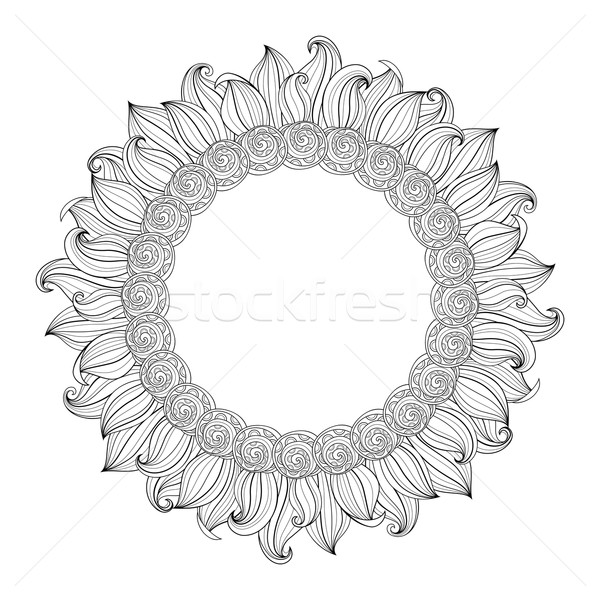 Vector Monochrome Floral Background Stock photo © lissantee