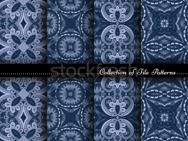 Vector Collection of Seamless Vintage Patterns Stock photo © lissantee