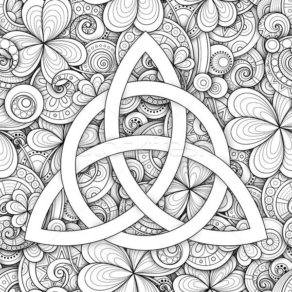 кельтской узел символ знак монохромный День Святого Патрика Сток-фото © lissantee