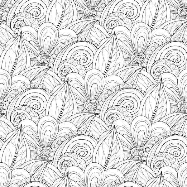 Vector naadloos monochroom patroon Stockfoto © lissantee